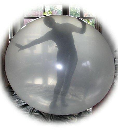 1 Stück, RC700-118-15 großer Climb-In Künstlerballon Riesenballon transparent - Größe 2m unbedruckt Einstiegsöffnung/Halsdurchmesser 15cm Riesenluftballon - Ø200cm /79inch, Umfang 630cm, Jumboballoon Typ RC700 - Hergestellt in der EU