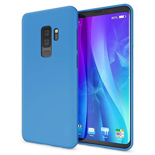 NALIA Funda Neon Compatible con Samsung Galaxy S9 Plus, Carcasa Protectora Movil Silicona Ultra-Fina Gel Bumper, Goma Cubierta Ligera Movil Cobertura Delgado Cover Phone Case, Color:Azul