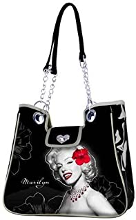 892b448ef2 Marilyn Monroe Cabas de Fitness Sac à Main Style Flowers 42 cm (Noir) 88960