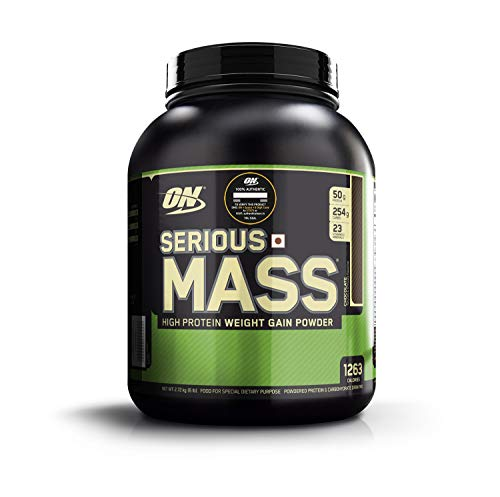 Optimum Nutrition (ON) Serious Mass Weight Gainer Protein Powder - 6 lbs, 2.72 kg (Chocolate)