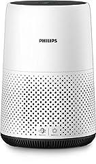 Philips AC0820/10 Luftrenare Kompakt (för allergiker, upp till 49M2, Cadr 190M3/H, Aerasense sensor) vit