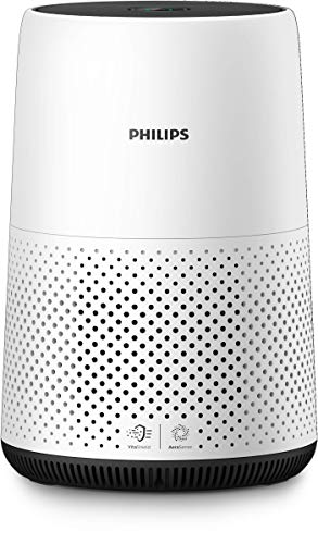 Philips AC0820/10 Luftreiniger entfernt bis zu 99,9% der Viren und Aerosole* aus der Luft, für Allergiker, bis zu 49qm, CADR 190m³/h, weiß