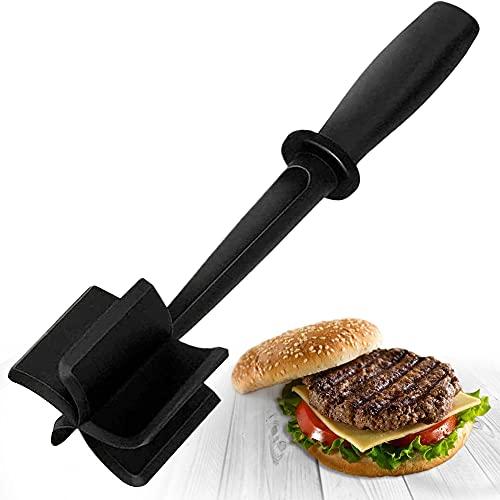 Professional Heat Resistant Ground Beef/Hamburger/Potato Masher | Nylon Ground Beef Chopper Tool | Hambuger Smasher Safe for Non-Stick Cookware