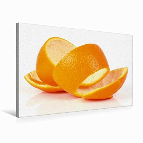 CALVENDO Premium Textil-Leinwand 75 cm x 50 cm quer, Orangenschale   Wandbild, Bild auf Keilrahmen, Fertigbild auf echter Leinwand, Leinwanddruck: EIN Motiv Leckere Vitamine Gesundheit Gesundheit