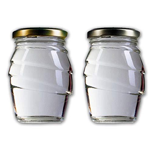 Vaso vetro per Miele e marmellate BEE2BE ml 212 con tappo, scatola da 12 pezzi