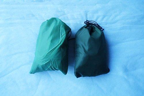 Qazse Hamac en tissu de parachute pour extérieur simple et double 190 * 140CM,200 * 90CM bleu