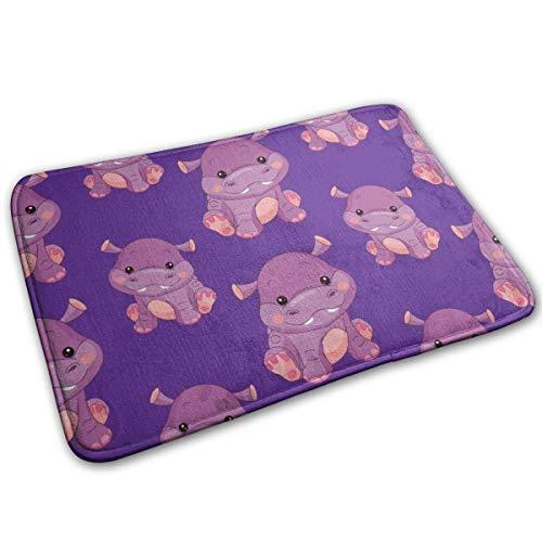 Liuqy Hippo Fußmatten 40x60cm Fußmatten Weicher Teppich für Küche Wohnzimmer Esszimmer Schlafzimmer-AW