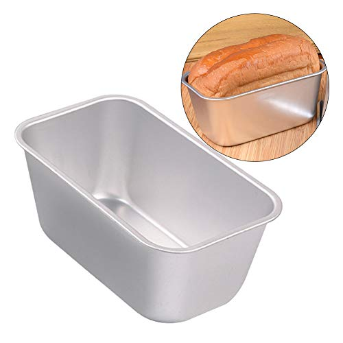 Molde de aleación de aluminio para hacer pan, antiadherente, molde rectangular para hornear, molde para hornear, molde para tartas y pan, As Picture Show, L