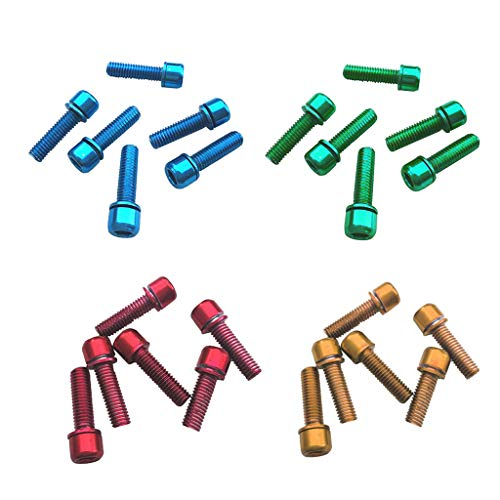 lahomia 24 Pieces Multicolor Carbon Steel Rotor Screws Bolts