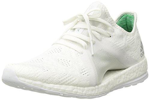 Adidas Pureboost X Element - Zapatillas de Running para Mujer, White/Grey Two/Green, 11 B(M) US