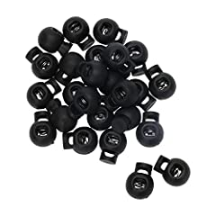 Material: Plastic; Color: Black. Design: Single hole style. Dimension: about 19 x 15 x 5mm / 0.7 x 0.6 x 0.2inch (Length * Width * Hole Diameter). Round cord locks are perfect for shoelaces, backpacks, sportswear, tents, and many more uses. Great for...