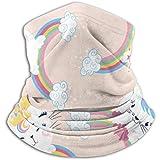 Xian Shiy Netter Einhorn-Katzen-Kinderschal, eine Vollgesichtsmaske oder -hut, Halsmanschette, Halskappenmaske, Halbmaske, Gesichtsmaske, Sturmhaube