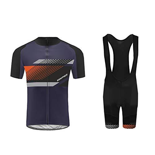 Uglyfrog 2019-2020 Bike Wear Ciclismo Hombres Maillots Seco y Transpirable de Bicicleta Conjunto de Ropa de Ciclo Jersey/Correa Cortos Bodies