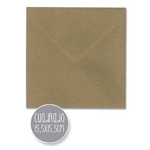 sobres KRAFT boda - varios tamaños - 110gr (15,5x15,5cm CUADRADO) 25und.