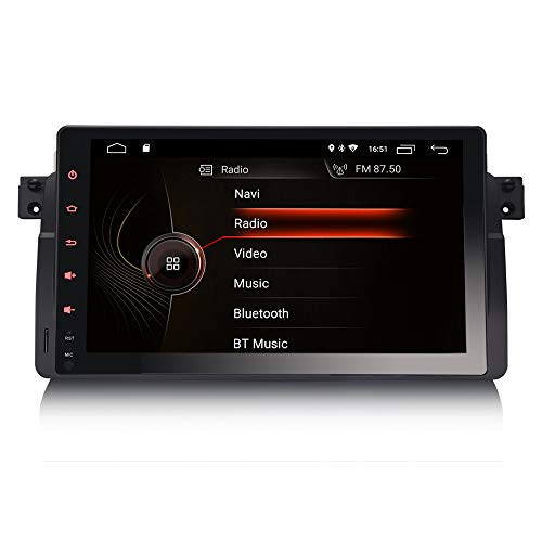 ERISIN 9 Zoll Android 10.0 Autoradio für BMW 3er E46 M3 318 320 MG ZT Rover 75 Unterstützt GPS-Navi Carplay Android Auto DSP Bluetooth A2DP DVB-T/T2 WiFi DAB+ Mirror-Link 2GB RAM+16GB ROM