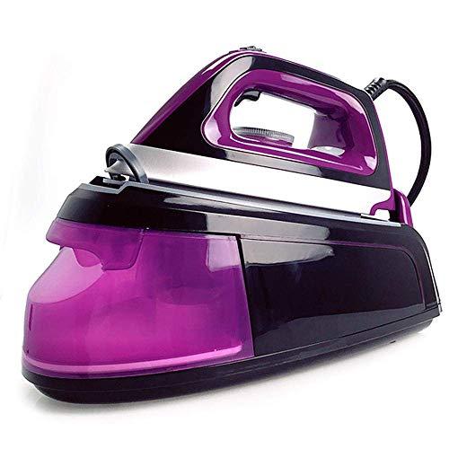 DFBGL Plancha de Vapor, 2200W-2400W, Suela de cerámica, Plancha de Vapor Profesional Vertical para el hogar de Mano para Ropa para el hogar, púrpura
