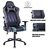 HEALGEN Gaming Office Chair with Large Lumbar Support,Reclining High Back Ergonomic Memory Foam Desk Chair,Racing Style PC Computer Executive Leather Chair with Headrest