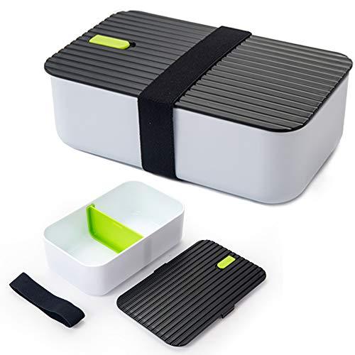 KKTICK Lunch Box, 1000ml Lunchpot Auslaufsicher, Kinder Brotdose/Sandwichbox für Kinder & Erwachsene - Büro & Schule - BPA-Frei - Brotzeit Dose für Spülmaschine Mikrowelle & Gefrierschrank