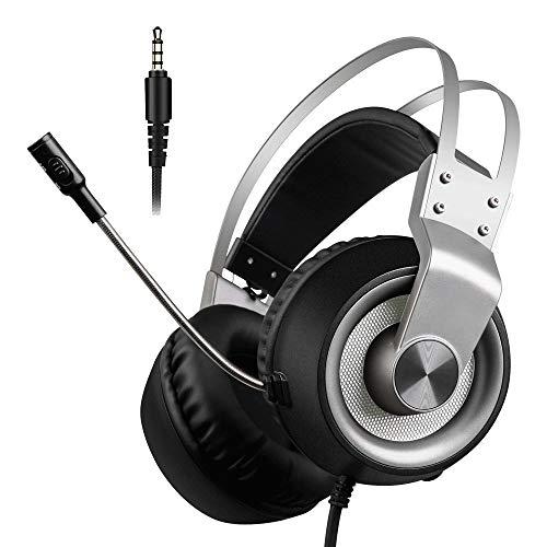QJGhy Casque de Jeu Surround Sound 7.1 canaux stéréo pour Casque de Jeu Micro de réduction du Bruit pour Xbox 1 S / PS4 / Ordinateur Portable/Mac
