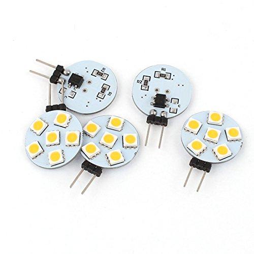 5x Energiesparlampe G45050SMD 6LED Schrank Lampe Warm Weiß
