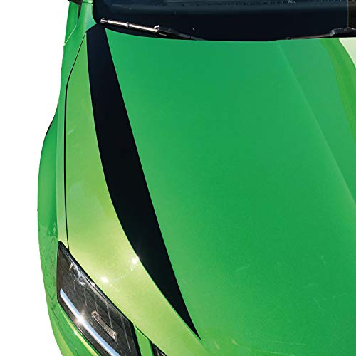 P-032 | Motorhaube Dekor 2er Set Folien-Set Racing (Oracal 751C/3M 1080/Oracal 7510 Fluorescent Premium) | Front | Stoßstange | Tuning | Styling | Car Styling | Rallye | (3M G13 Hotrodred, Variante 1)