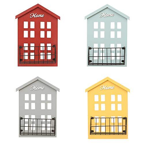 De aan de muur bevestigde planken zwemdock eenvoudig creatief houten huis rek creatieve decoratieve frames multifunctioneel opslagrek rek geschikt voor slaapkamer, woonkamer, badkamer, keuken, kantoor, enz. (vier kleuren)