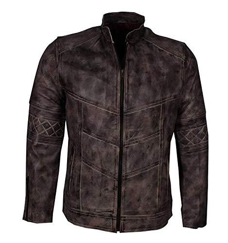 Western Fashions männer, Frauen Distressed Vintage Motorrad echtes Leder Biker Stil Distressed Hickory braun Jacke-s
