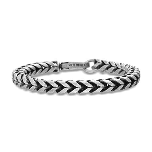 Steve Madden 7.5 Inch Stainless Steel Twisted Curb...