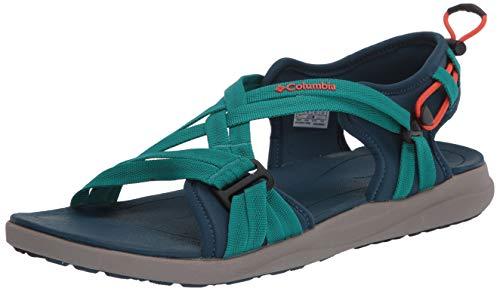 Columbia Women's Sport Sandal, Petrol Blue/zing, 12