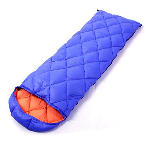 Fu Man Li Trading Company Plumes extérieures pour adultes, canard ultra-léger, camping, gros sac de couchage intérieur A+ ( Couleur : Bleu , taille : Without a hat )