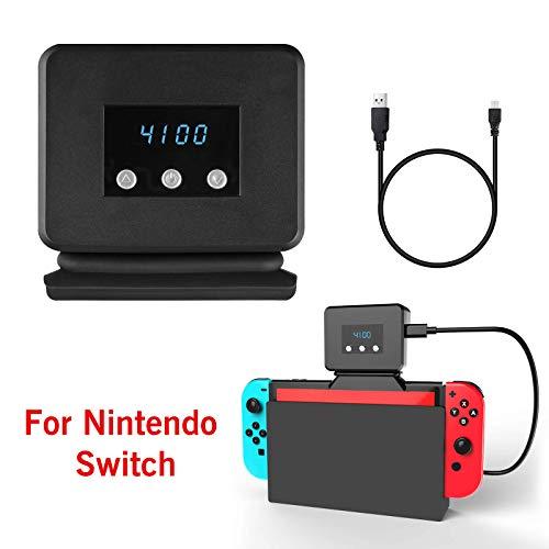 EEEKit-Lüfter für Nintendo Switch Dock Set-Temperaturanzeige-Kühler für NS-Original-Dockingstation, USB-Betrieb, integriertes Kabel