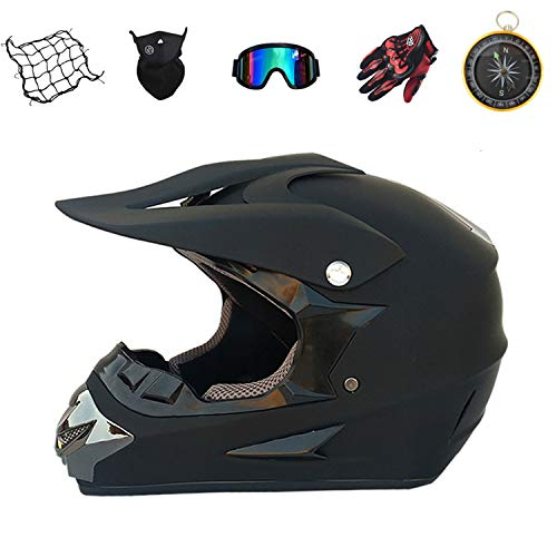 Juego de cascos de motocross Downhill para moto, cross, enduro, para niños, para quad, BMX, quad, bicicleta, ATV, Go Kart-(59-60), XL)