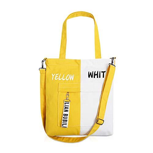 NICOLE & DORIS Damen A4 Handtasche Groß Canvas Tasche Shopping Umhängetasche Henkeltasche 15