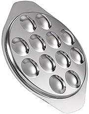 Cabilock - Plato de caracol con diseño de setas de caracol de acero inoxidable, 12 agujeros para cocinar al horno