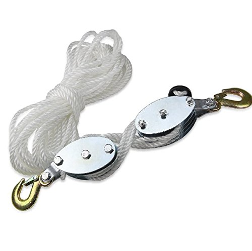 2 New 2 Ton Poly Rope Hoist Pulley ...