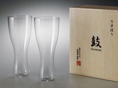 うすはりグラス 鼓 ビールグラス