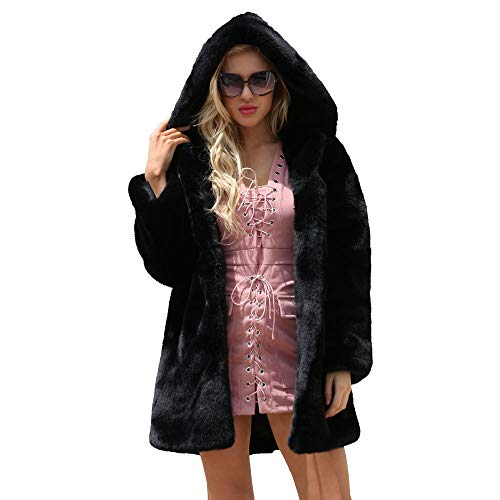 ZEELIY Oberbekleidung Damen Elegant Winter Lady Womens Warme Lange Kunstpelz Mantel Parka