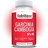 Garcinia Cambogia 95% HCA by Nutritionn - 1400 mg of Premium 100% Natural Garcinia Cambogia Extract per Serving - Appetite Suppression Pills for Diet & Weight Loss