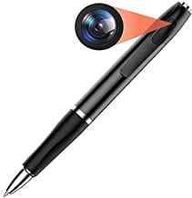 CAM 360 HD 1080P Hidden Pen Camera with Spy Protection Cover Recording Time of Up to 75 Minutes (Black)