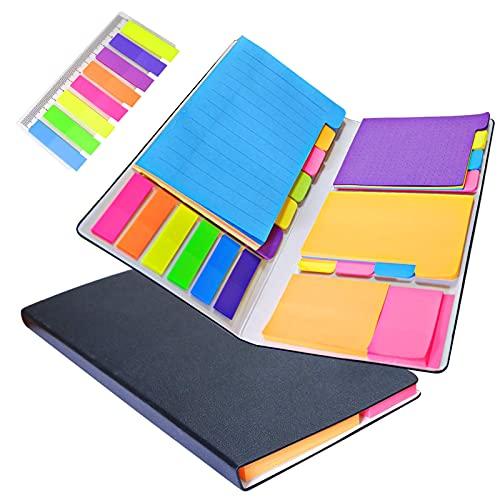 Set Note Autoadesive, 532 Foglietti Adesivi Colorate e Segnapagina, Note Etichette Scrivibile, Note Adesive Portabile per Scuola ed Ufficio