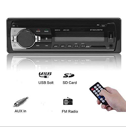 Ezonetronics Autoradio Bluetooth 1 DIN, Manos Libres Estéreo de Coche, Apoyo de Reproductor MP3, Llamadas Manos Libres, Función de Radio, y de Archivo
