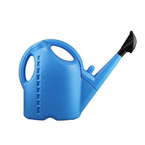 Crewell Gießkanne, 5 l, abnehmbare Gießkanne, 2 in 1, Gießkanne, große Kapazität, für Innen- und Außenbereich, Gießkanne blau