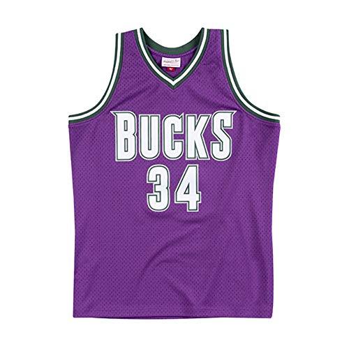 NBA Basketball Trikot für Herren, Retro Basketballtrikot Swingman Jersey, Ray Allen # 34, Gym Weste Sport T-Shirt, S-XXL, Z109MK (Color : A, Size : XL)