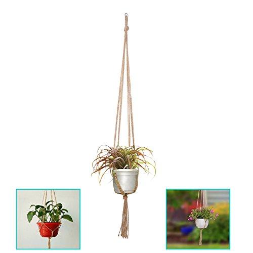 KUWAN 吊るす マクラメ 麻縄 植木鉢 植物ハンガーネット 屋内屋外植物ホルダ 3PCS [9507]