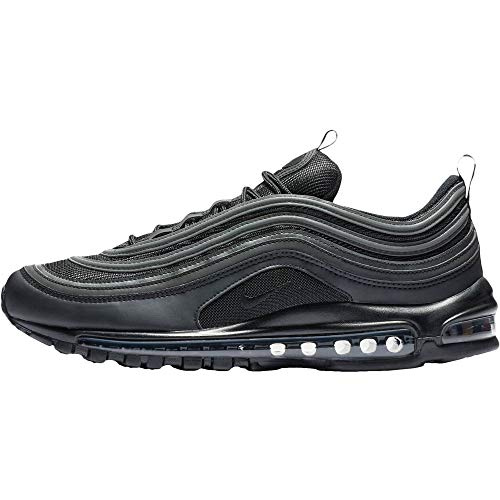 Nike Men's AIR MAX 97 Fitness Shoes, Black (Black/Black/White 001), 10.5 UK