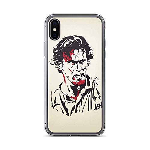 JSBFR Funda Compatible con iPhone 11 Case Anti-Scratch Motion Picture Transparent Cases Cover Evil Dead 'Ash Ink' Action Movies Video Film Crystal Clear