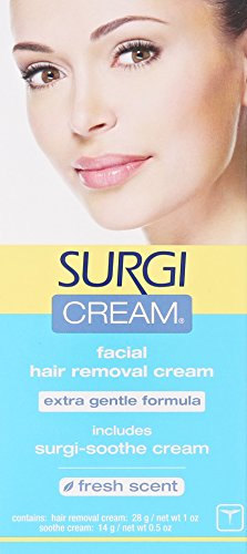 Surgi-cream Hair Remover Extra Gentle Formula For Face, 1-Ounce Tubes...