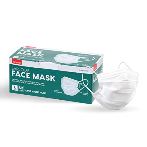 IRIS USA 50-Piece Earloop Face Mask
