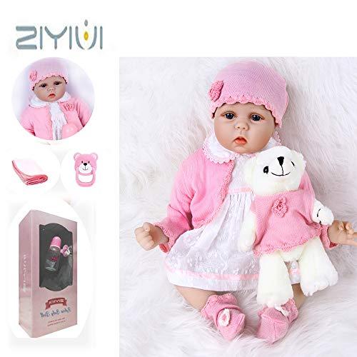 ZIYIUI Lebensechte Reborn mädchen Babypuppen Puppe Schöne Baby Dolls Neugeborene Junge Silikon Vinyl Puppe Geburtstag Geschenke Spielzeug 22 Zoll 55 cm