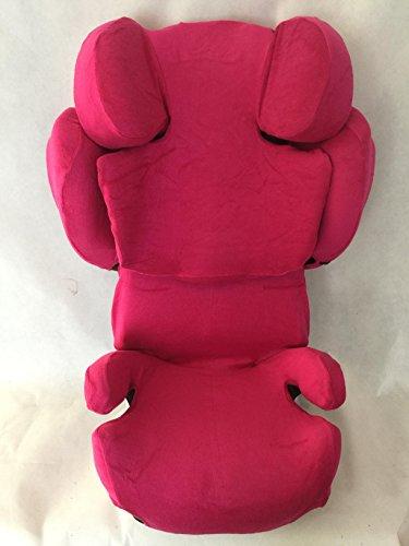 Sommerbezug Schonbezug für Cybex SOLUTION Q, Q-fix, Q2-fix, Q3-fix Frottee 100% Baumwolle pink